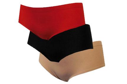 J&C invisible slip rood, zwart, beige, huidskleur