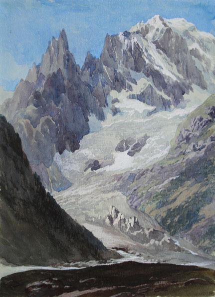 Thomas Burton Watkin Foprster TBWF Aquarell watercolor, Karl Lang Archiv Büsingen