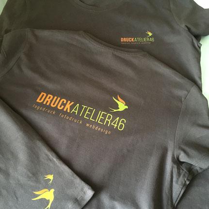 Druckatelier46 Mülchi - Foto Textildruck auf dunkle Shirts