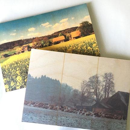 Druckatelier46 Mülchi-Bern - Foto auf Holztafeln