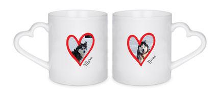 Druckatelier46 - Paar-Tassen mit Fotodruck