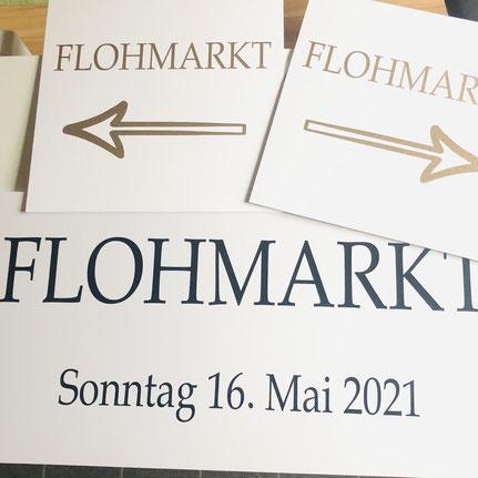 Druckatelier46 - Strassenplakate Flohmarkt Mülchi