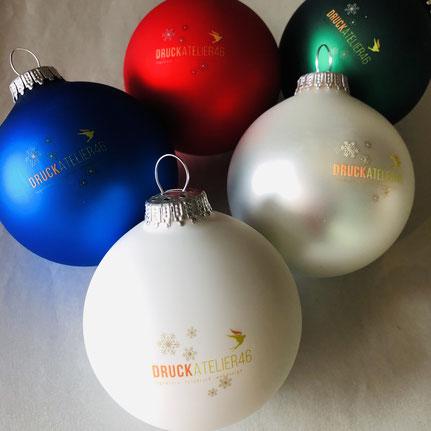 Druckatelier46 - Bedruckte Weihnachtskugeln
