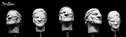 John Wayne 1/6 headscupt