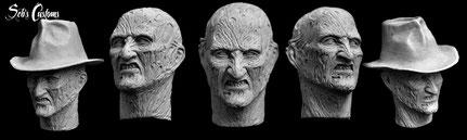 Freddy Krueger 1/6 headscupt