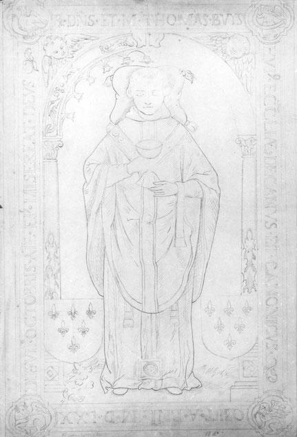 Foto tekening grafplaat Thomas Buys. Onbekend (ca. 1900) Fotocollectie Regionaal Archief Nijmegen F46011