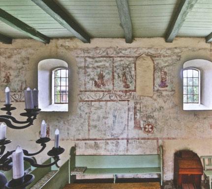 Wandmalerei in der Demerthin Dorfkirche