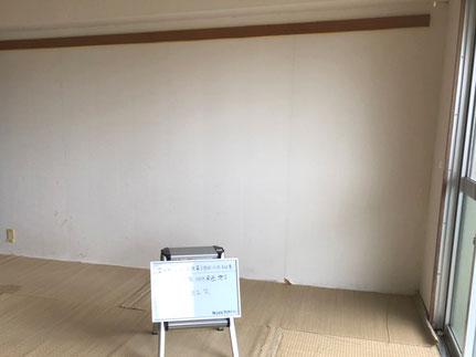 和室の壁紙の剥がれ