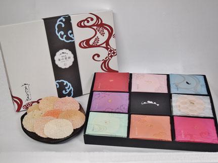 えび乃匠シリーズの中でも、人気のギフトセット『海の煎餅』は贈答用におすすめです。