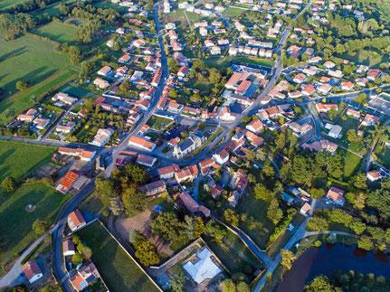 Luftbild einer Wohngegend zur Projektentwicklung