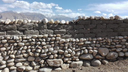 Mauer in Tsarang, Mustang