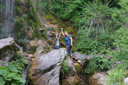 Klettern am Wasserfall Krampez