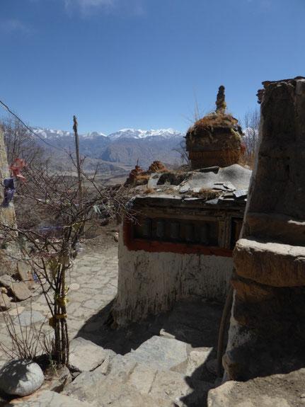 Aussicht von Ghar Gompa