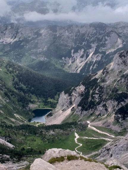 Krn See vom Krn Gipfel gesehen