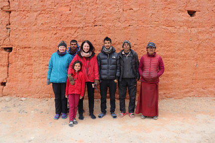 Gruppe in Lo Manthang