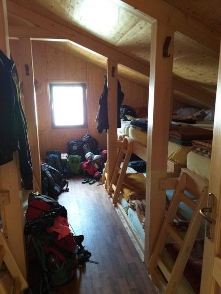 Schlafsaal Berghütte Slowenien