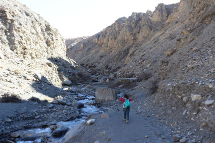 Flusstal in Upper Mustang