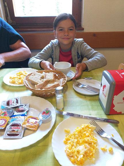 Frühstück Hüttentour Slowenien