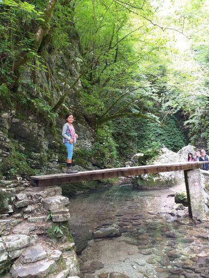 Brücke über den Kozjak Fluss