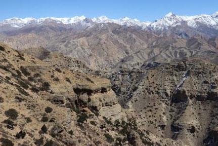 Aussicht Upper Mustang Pass