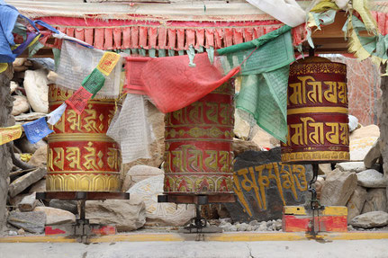 Gebetsmühlen in Lo Manthang