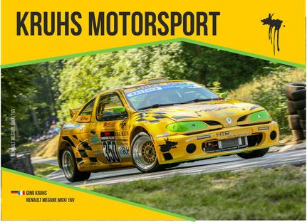 Hier unsere letzte Autogrammkarte vom Renault Megane Maxi