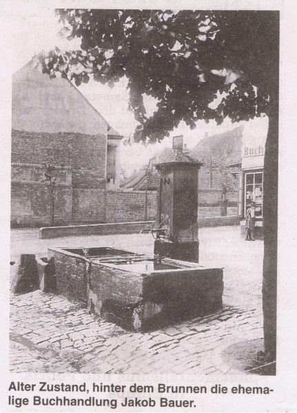 1930,  Alter Marktbrunnen, Bild: Stadtarchiv