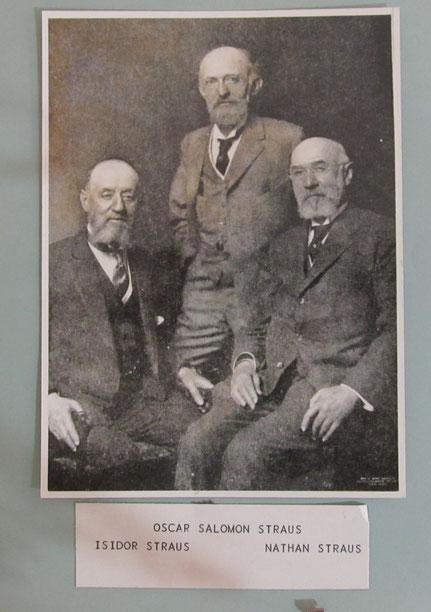 Nathan Straus (Rechts), Bild: Heimatmuseum