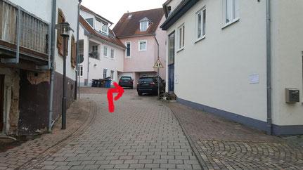 ...rechts ab in der Lauerstrasse zur Engelsche Mühle