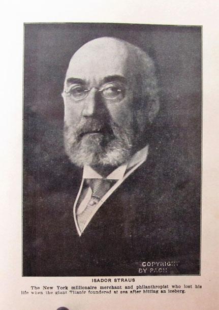Isidor Straus, Bild: Heimatmuseum