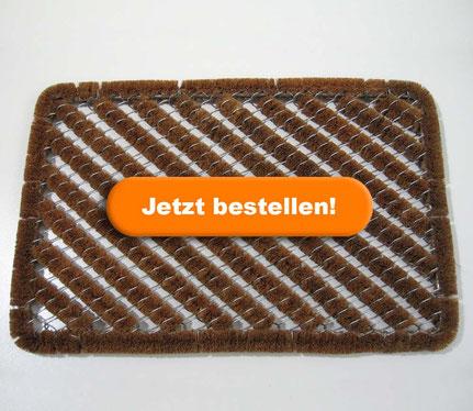 Beckland Bürstenfußmatte Fußmatte Drahtgittermatte
