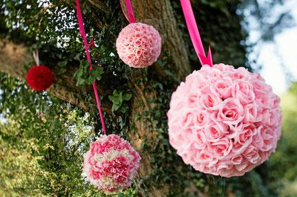 esferas colgantes jardin