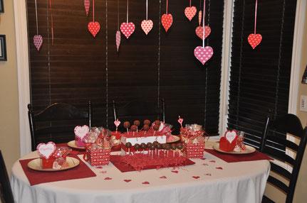 mesa de dulces san valentin