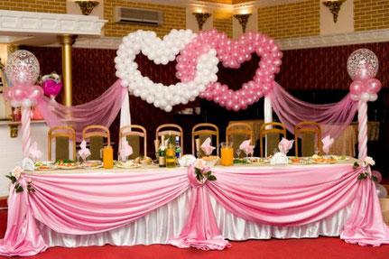 decoración boda rosa