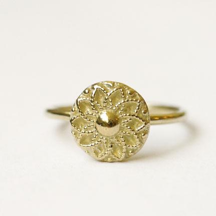 gouden munt ring