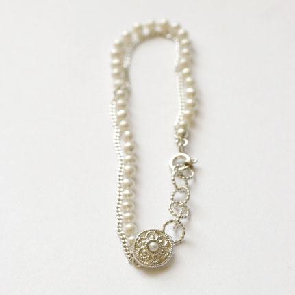 zilveren armband met parels