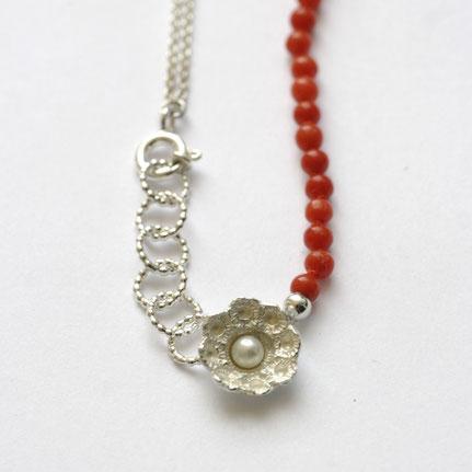 bloedkoralen sieraden, zeeuws bloedkoralen ketting, handgemaakte sieraden