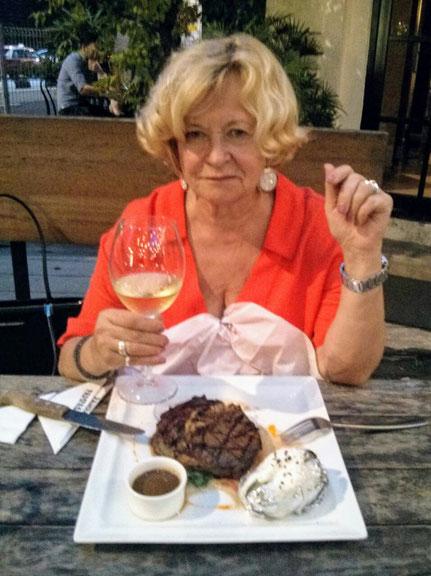 Ribeye Steak im Pampas Restaurant
