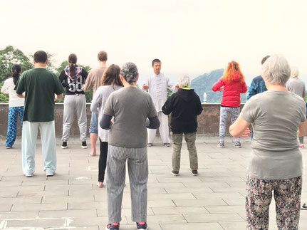 Qigong mit Meister Wei in China