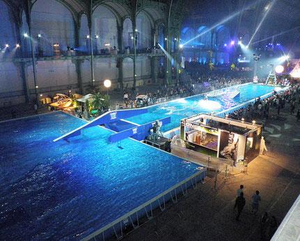 Enorme piscine tubulaire olympique hors sol qualité Laghetto ultra résistant solide sur mesure Alba Alès proche sommière