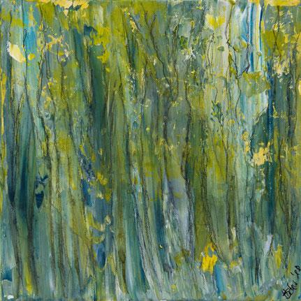"""Wald 2"", Acryl auf Leinwand, 30x30 cm"