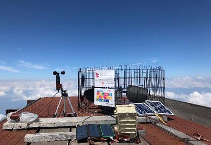 図1.持ち運びできる風力発電と太陽光発電システム