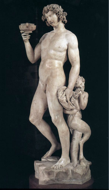 Самые известные работы Микеланджело - Бахус (1497)