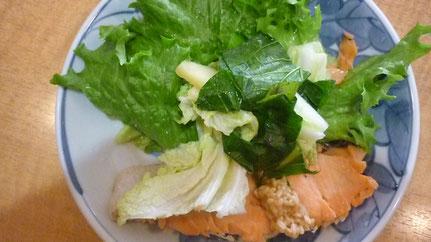 野菜と塩鮭