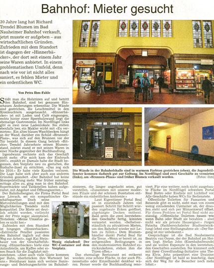 Bahnhof: Mieter gesucht, WZ 19.11.2014, Text und Fotos: Petra Ihm-Fahle