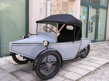 Cyclecarette Monet & Goyon à 3 roues de 1922