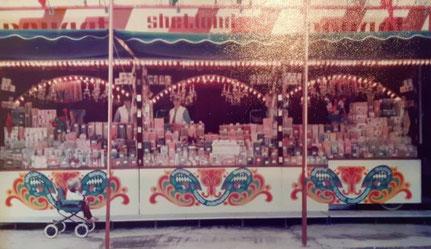De snoepkraam waar de familie Paashuis in 1979 op het toenmalige Shetland Pony Park Slagharen mee begon...