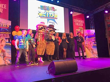 Winnaar Kids Vakantieaanbieder van het Jaar, Award 2018, Foto: Attractie- en Vakantiepark Slagharen (14-01-2018)