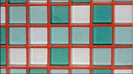 Ziegelroter Mosaikfugenmoertel für Wand- und Bodenmosaikfliesen für Innen- und Außenbereich geeignet