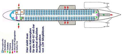 Maximale Konfiguration mit 139 bei der MD-87/MD-80.com